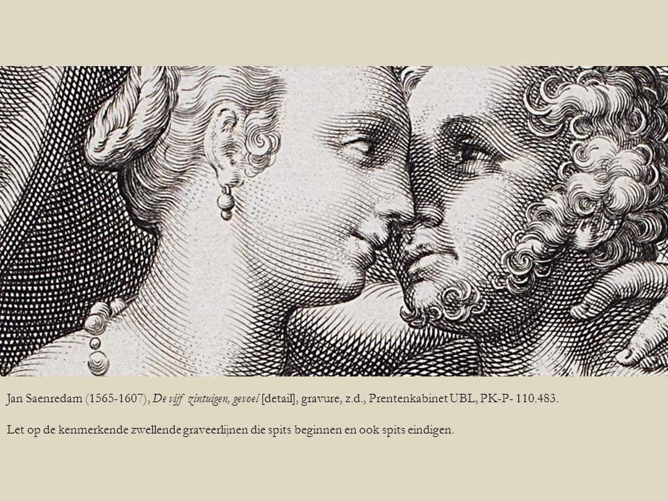 Jan Saenredam (1565-1607), De vijf zintuigen, gevoel [detail], gravure, z.d., Prentenkabinet UBL, PK-P- 110.483.